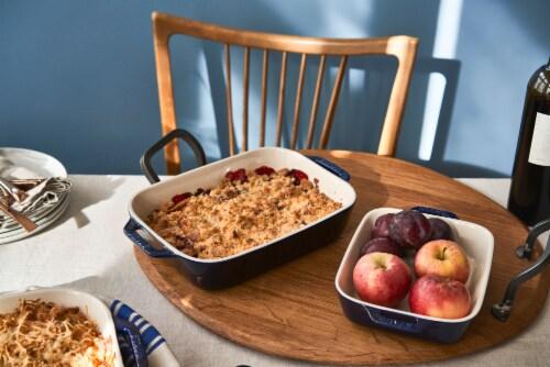Staub Ceramic 2-pc Rectangular Baking Dish Set - Dark Blue Perspective: top
