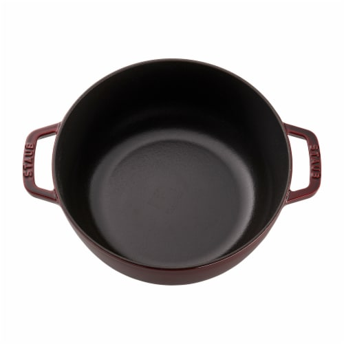 Staub Cast Iron 3.75-qt Essential French Oven Rooster - Grenadine Perspective: top