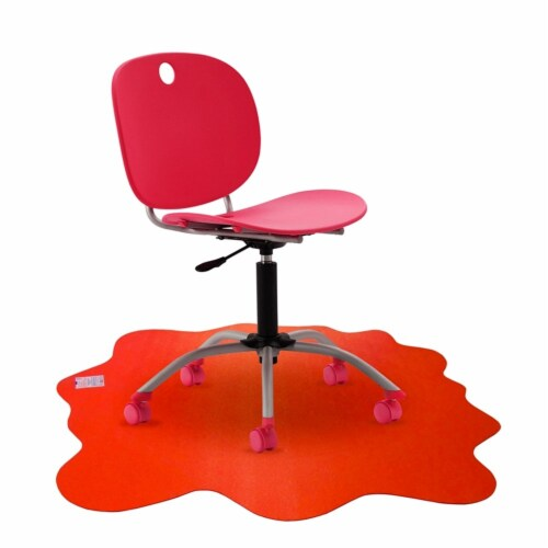 40  x 40  Multipurpose Mat For Hard Floor in Red Perspective: top