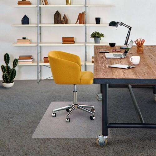 Floortex Cleartex Advantagemat 48 x 60  Vinyl Office or Home Floor Chair Mat Perspective: top