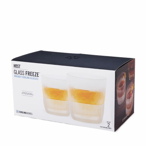 Glass FREEZE™ Whiskey Glass (set of two) by HOST® Perspective: top