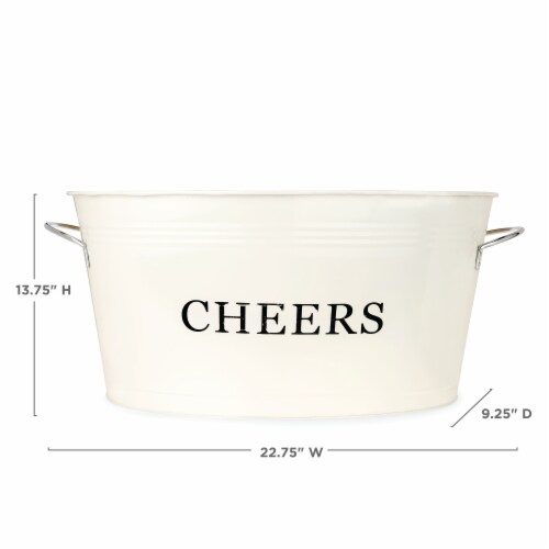 Cheers Galvanized Metal Tub by Twine® Perspective: top