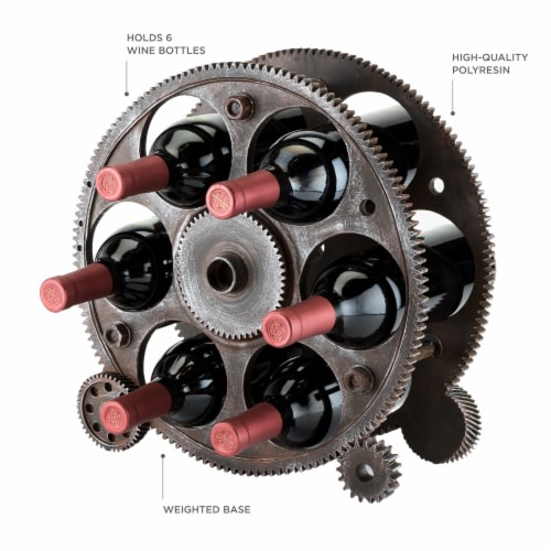 Gears And Wheels Wine Rack by Foster & Rye™ Perspective: top