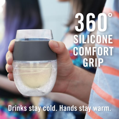 True Fabrications Freeze Cooling Wine Glass Perspective: top