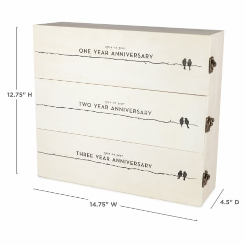 Newlywed's Anniversary Wooden Wine Box by Twine® Perspective: top