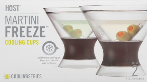 True Fabrications Host Freeze Cooling Martini Cup - Gray/Clear Perspective: top