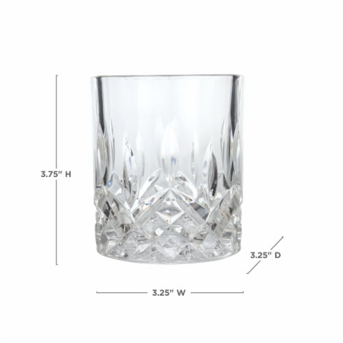 Admiral™ Crystal Tumblers by Viski® Perspective: top