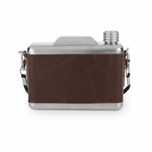 Stainless Steel Snapshot Flask by Foster & Rye™ Perspective: top
