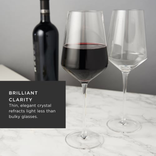 Angled Crystal Bordeaux Glasses by Viski® Perspective: top