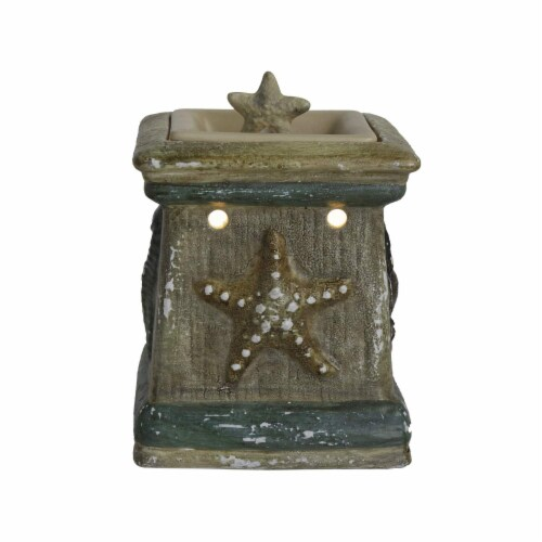 Scentsationals Home Decorative Scented By The Sea Full Size Ceramic Wax Warmer - Cream Perspective: top