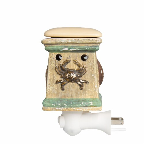 Scentsationals Home Fragrance Coastal By the Sea Plug-in Accent Wax Warmer with Light Bulb Perspective: top