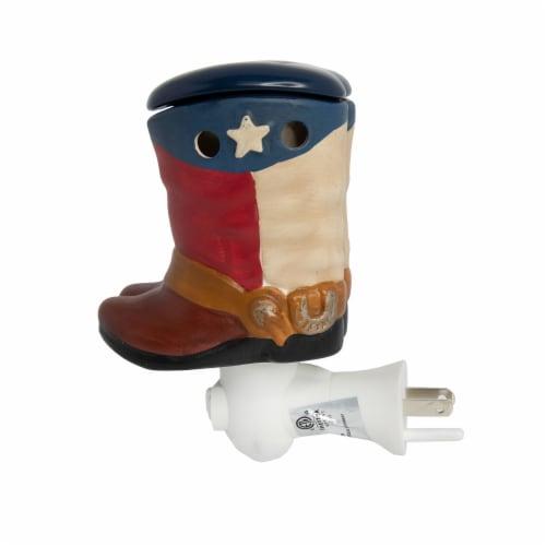 Scentsationals Home Fragrance Texas Cowboy Boots Accent Wax Warmer with 15 Watt Light Bulb Perspective: top