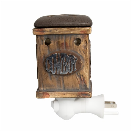 Scentsationals Home Fragrance Western Rustic Plug-in Accent Wax Warmer and15 Watt Light Bulb Perspective: top