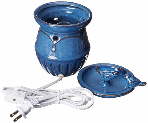 Common Scents Scentsationals Scented Blue Birds Full Size Ceramic Wax Warmer - Blue Perspective: top