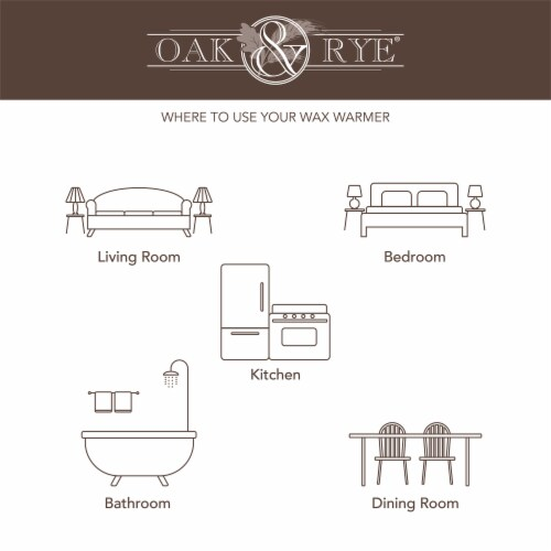 Oak & Rye Petra Mini Wax Warmer Perspective: top