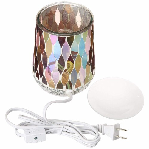Scentsationals Home Indoor Decorative MOSAIC Pearl Full Size Wax Warmer Perspective: top