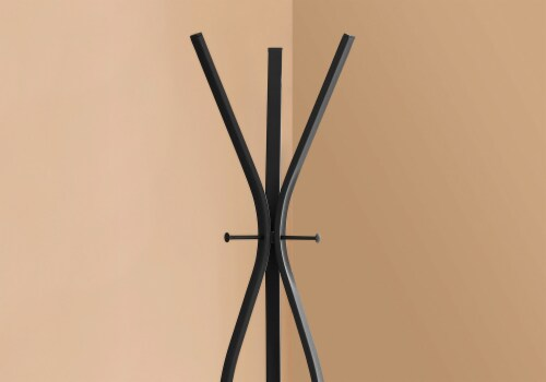 Coat Rack - 72 H / Black Metal Contemporary Style Perspective: top