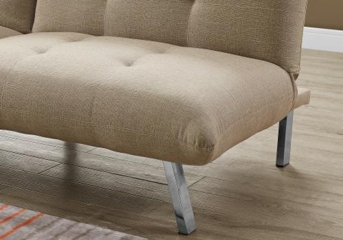Futon - Split Back Click Clack / Sand Linen Perspective: top