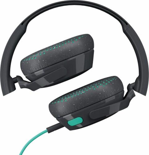 Skullcandy Riff Wired Headphones - Black/Mint Perspective: top