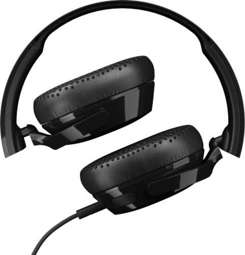 Skullcandy Riff Wired Headphones - Black Perspective: top