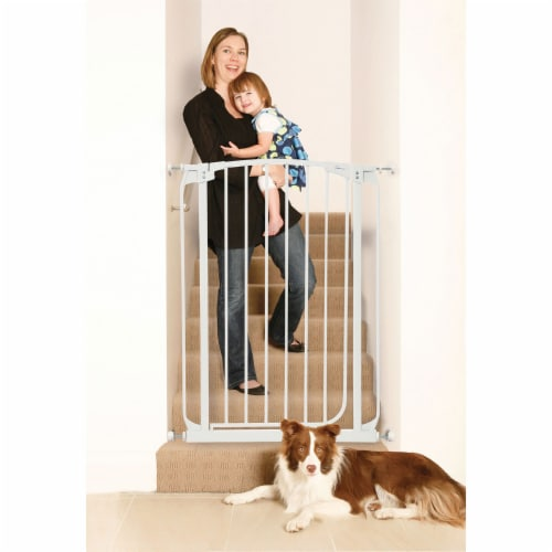 Dreambaby L782W Chelsea 28 to 42.5 Inch Auto-Close Baby Pet Safety Gate, White Perspective: top