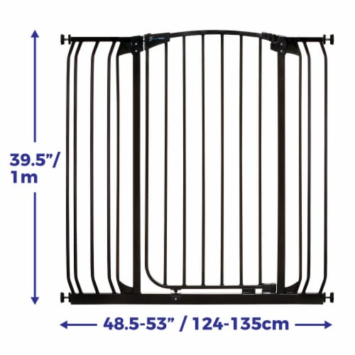 Dreambaby L782B Chelsea 28 to 42.5 Inch Auto-Close Baby Pet Safety Gate, Black Perspective: top