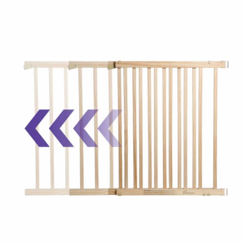 Dreambaby Nelson Swing Gro-Gate Expandable Wooden Baby Pet Safety Gate, Natural Perspective: top
