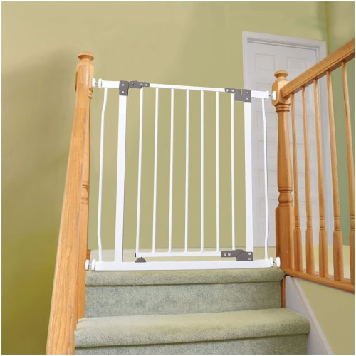Dreambaby L854 Liberty 29.5 to 33 Inch Baby and Pet Stay Open Safety Gate, White Perspective: top