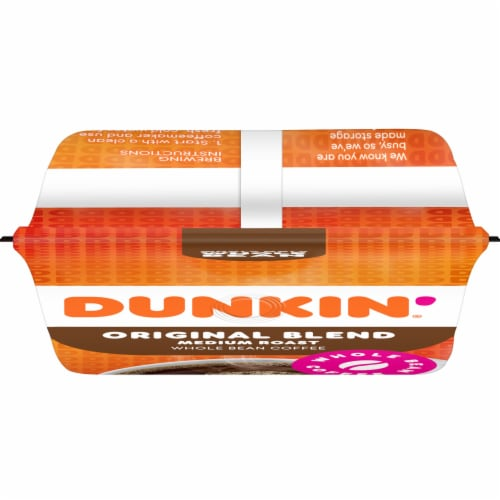 Dunkin' Donuts Original Blend Whole Bean Coffee Perspective: top