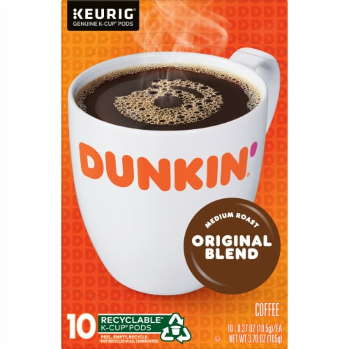 Dunkin' Donuts Original Blend Coffee K-Cup Pods Perspective: top