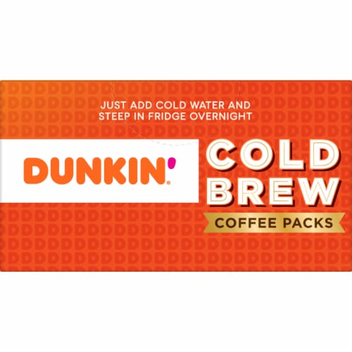 Dunkin' Donuts Cold Brew Coffee Packs Perspective: top
