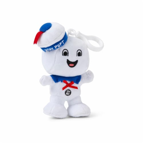 "Ghostbusters Stay Puft Marshmallow Man Happy Face 4"" Talking Mini Plush Perspective: top"