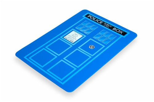 Doctor Who TARDIS Cutting Board Perspective: top