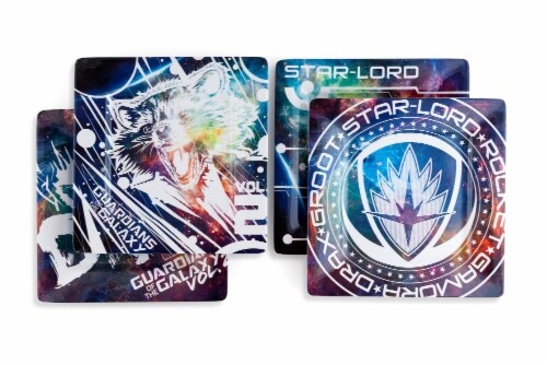 """Guardians of the Galaxy Vol. 2 4-Pack 8"""" Plastic Plates Perspective: top"""
