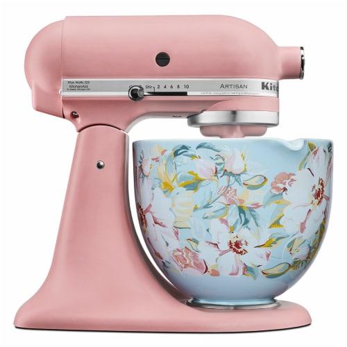 KitchenAid 5 Quart White Gardenia Ceramic Mixing Bowl for Kitchen Stand Mixer Perspective: top
