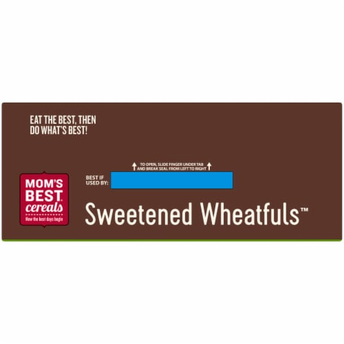 Mom's Best Sweetened Wheatfuls Family Size Cereal Perspective: top