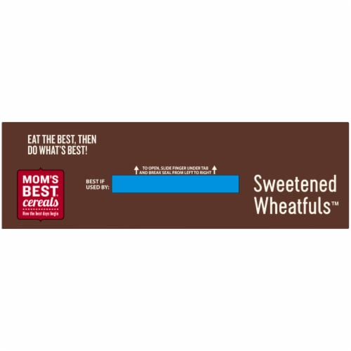 Mom's Best Sweetened Wheatfuls Cereal Perspective: top
