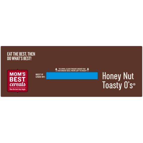 Mom's Best Honey Nut Toasty O's Cereal Perspective: top