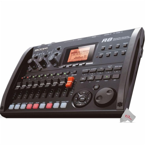 Zoom R8 8-track Digital Recorder / Interface / Controller / Sampler Perspective: top
