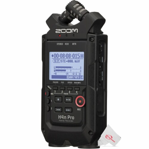 Zoom H4n Pro 4-input / 4-track Digital Portable Audio Handy Recorder Perspective: top