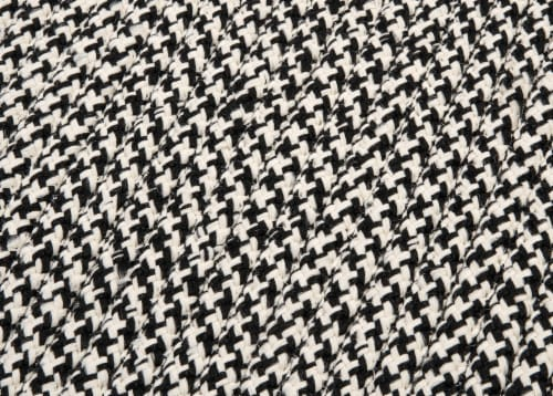 Colonial Mills Outdoor Houndstooth Tweed Rugs - Black Perspective: top