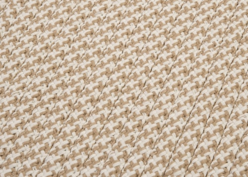Colonial Mills Outdoor Houndstooth Tweed Rugs - Cuban Sand Perspective: top