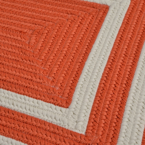 Colonial Mills La Playa Rug - Tangerine Perspective: top