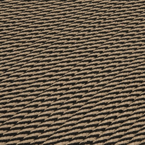 Colonial Mills Point Prim Area Rug - Black Perspective: top