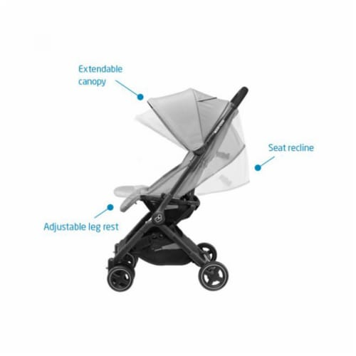 Maxi-Cosi Lara Travel Easy Fold Lightweight Canopy Baby Stroller, Nomad Red Perspective: top