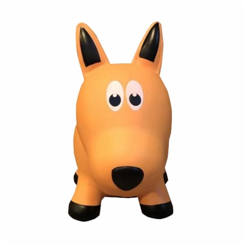 Farm Hoppers Inflatable Bouncing Yellow Dog Perspective: top