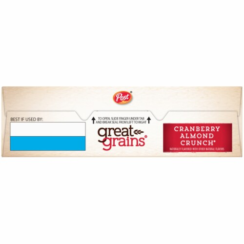 Post Great Grains Cranberry Almond Crunch Cereal Perspective: top