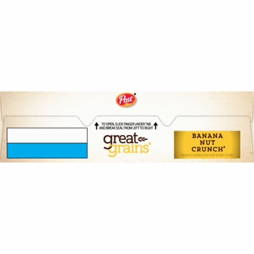 Post Great Grains Banana Nut Crunch Cereal Perspective: top