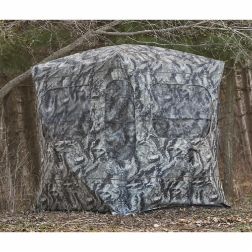 Guide Gear GGFGB-MOETC Field General Ground Hunting Blind, Mossy Oak Camouflage Perspective: top