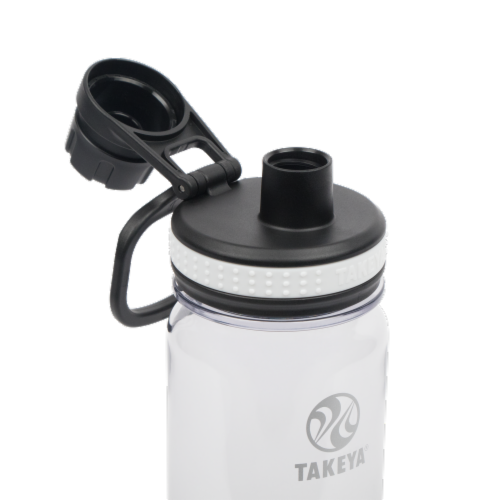 Takeya Clear Tritan Bottle with Spout Lid Perspective: top